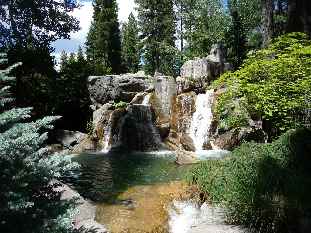 Lakefront Waterfall